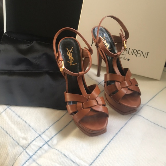 a312a762751 YSL Ambra Platform Sandals in Tan!!! Preloved! M_5a467ae0077b97c9ab118695
